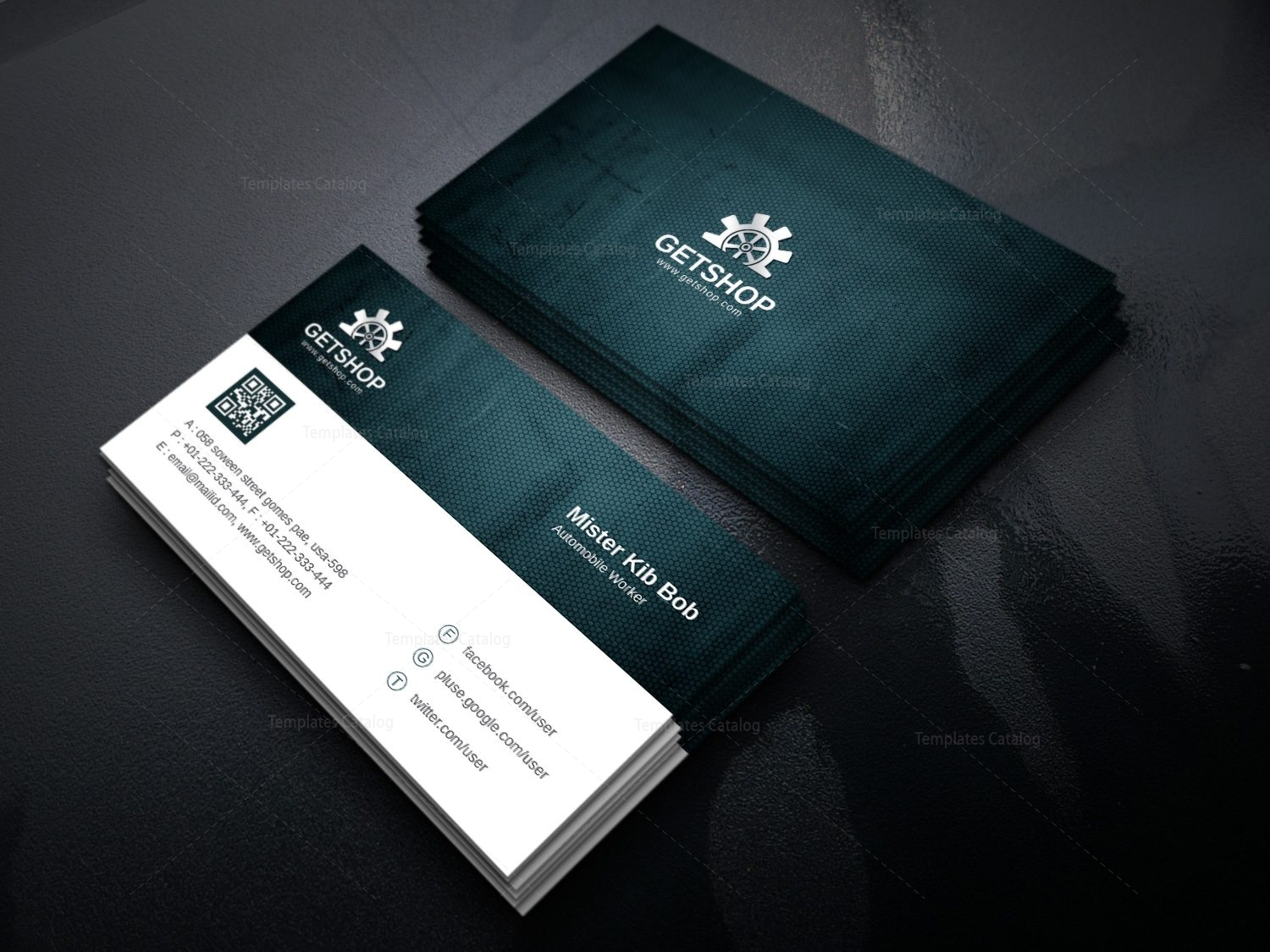 Fabric modern corporate business card template 000926 template catalog fabric modern corporate business card template 4 colourmoves