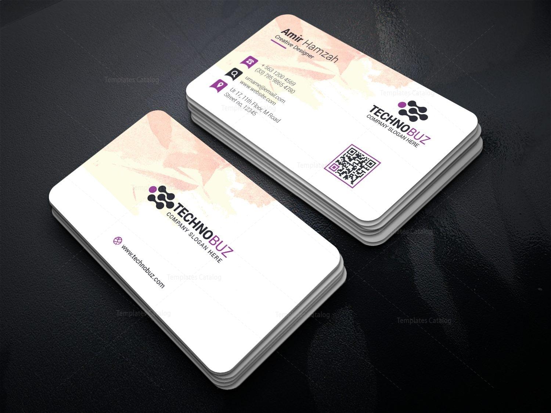 Feminine Business Card Template 000815 - Template Catalog