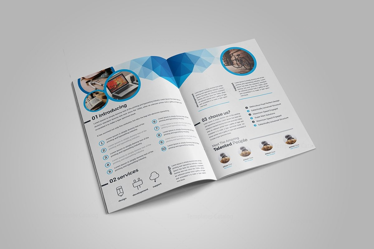 Genesis Stylish BiFold Brochure Template Template Catalog - Bi fold brochure templates