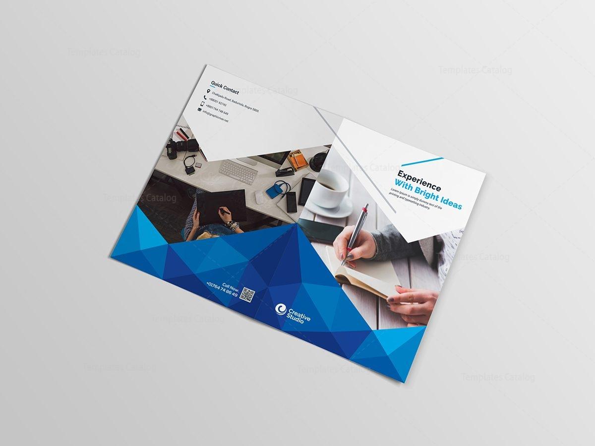 Godlike Elegant Bi-Fold Brochure Template 000851 - Template Catalog