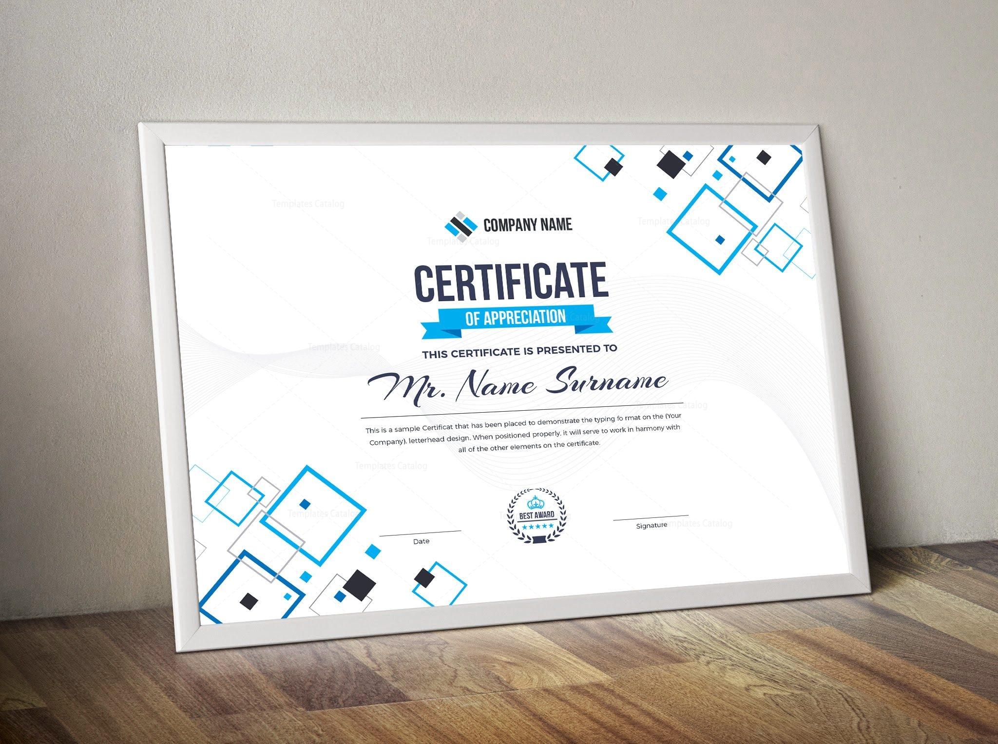 Hera Landscape Certificate Template 000839 - Template Catalog