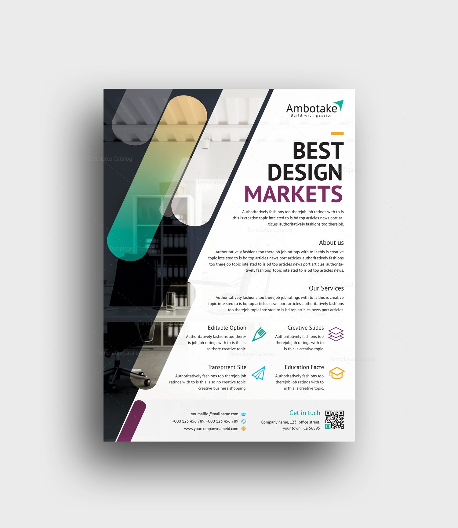 hesperus professional corporate flyer template 2