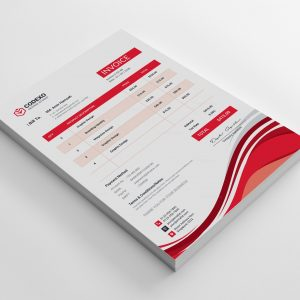 Hibana Stylish Corporate Invoice Template