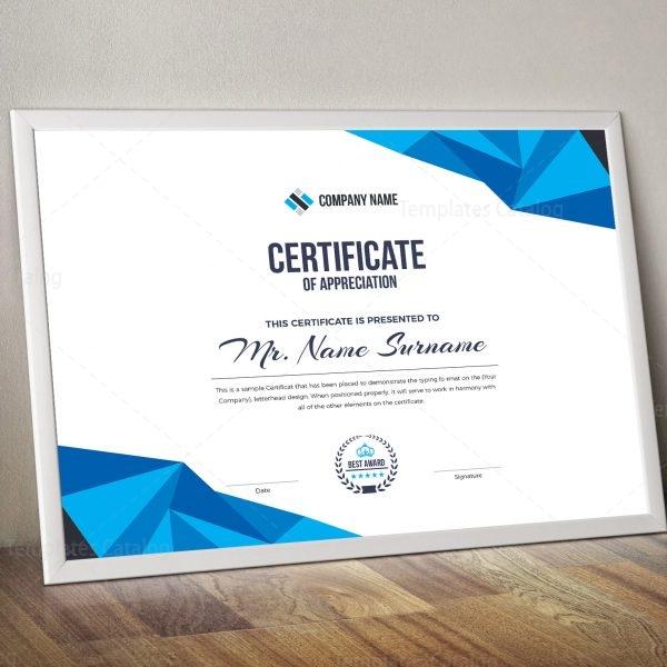 High Quality Elegant Corporate Certificate Template 2  Corporate Certificate Template