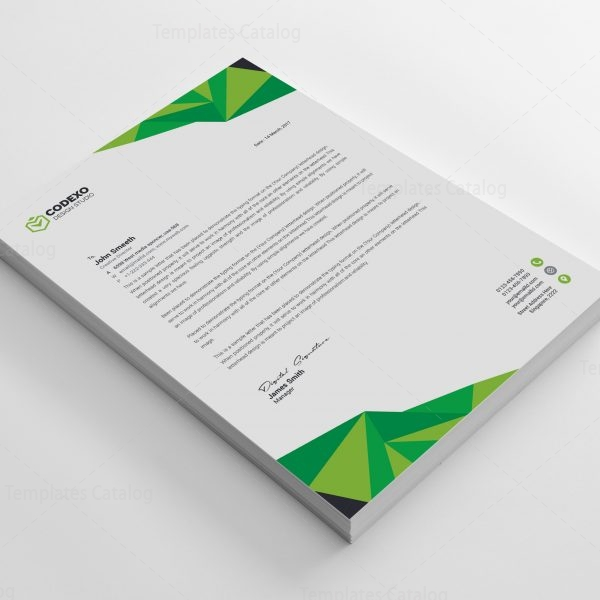 High Quality Professional Corporate Letterhead Template 5