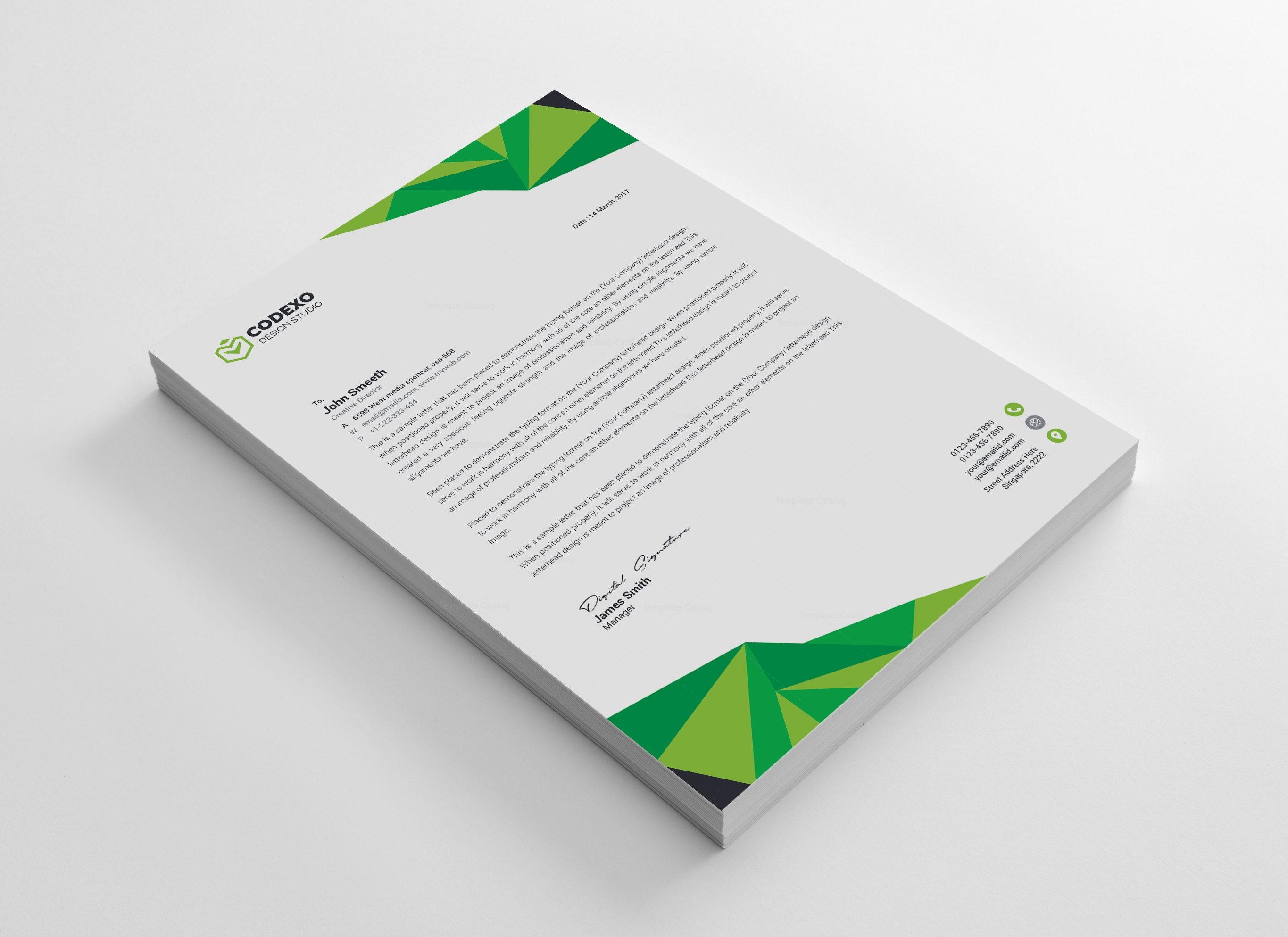 High Quality Professional Corporate Letterhead Template 000900 ...