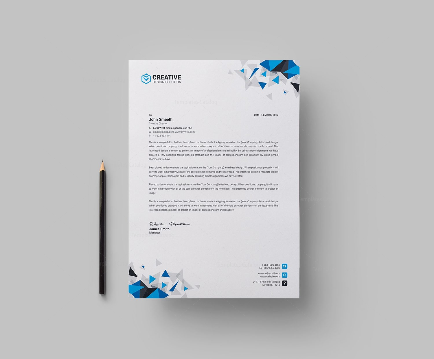 Kapkan Professional Corporate Letterhead Template 1