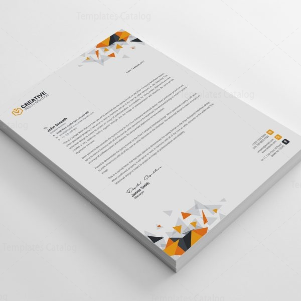 Kapkan Professional Corporate Letterhead Template   Template