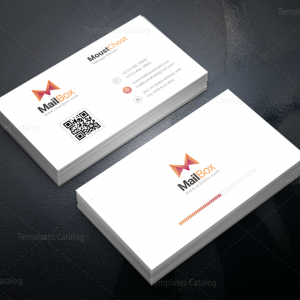 Mailbox Modern Corporate Business Card Template