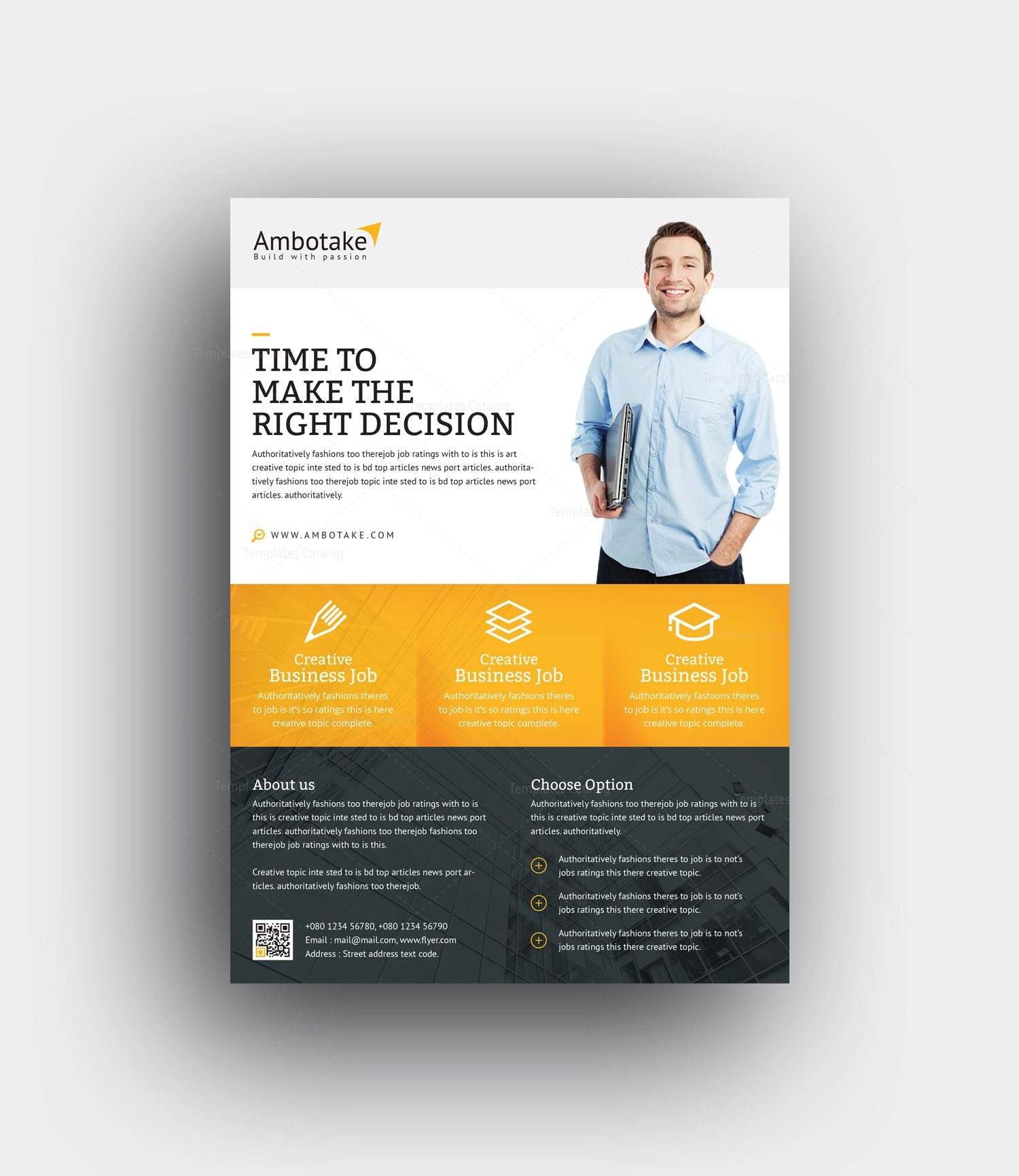 momus professional corporate flyer template 001002 template catalog