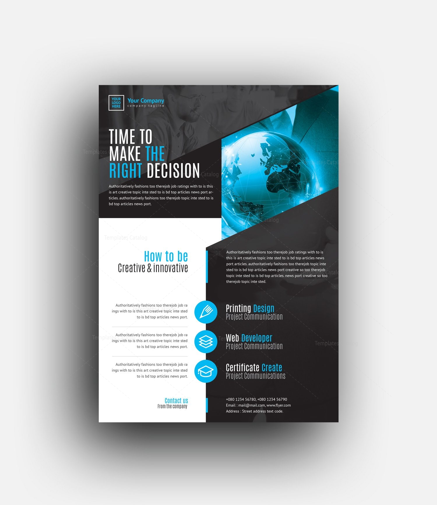 Professional Flyer Design Templates: Morpheus Professional Corporate Flyer Template 0010003