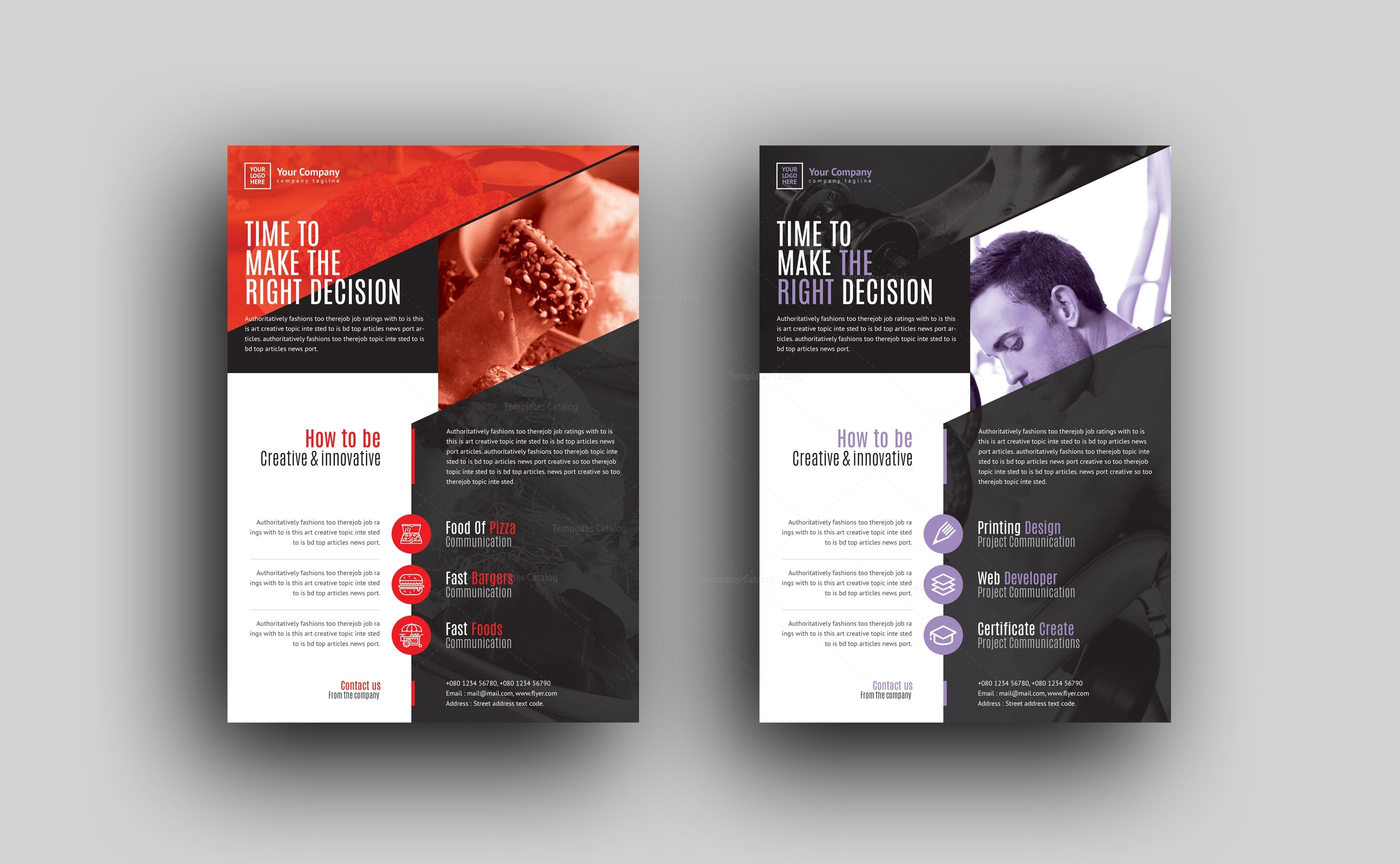 Morpheus Professional Corporate Flyer Template Template - Company flyer template