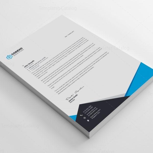 Nemesis Professional Corporate Letterhead Template 2