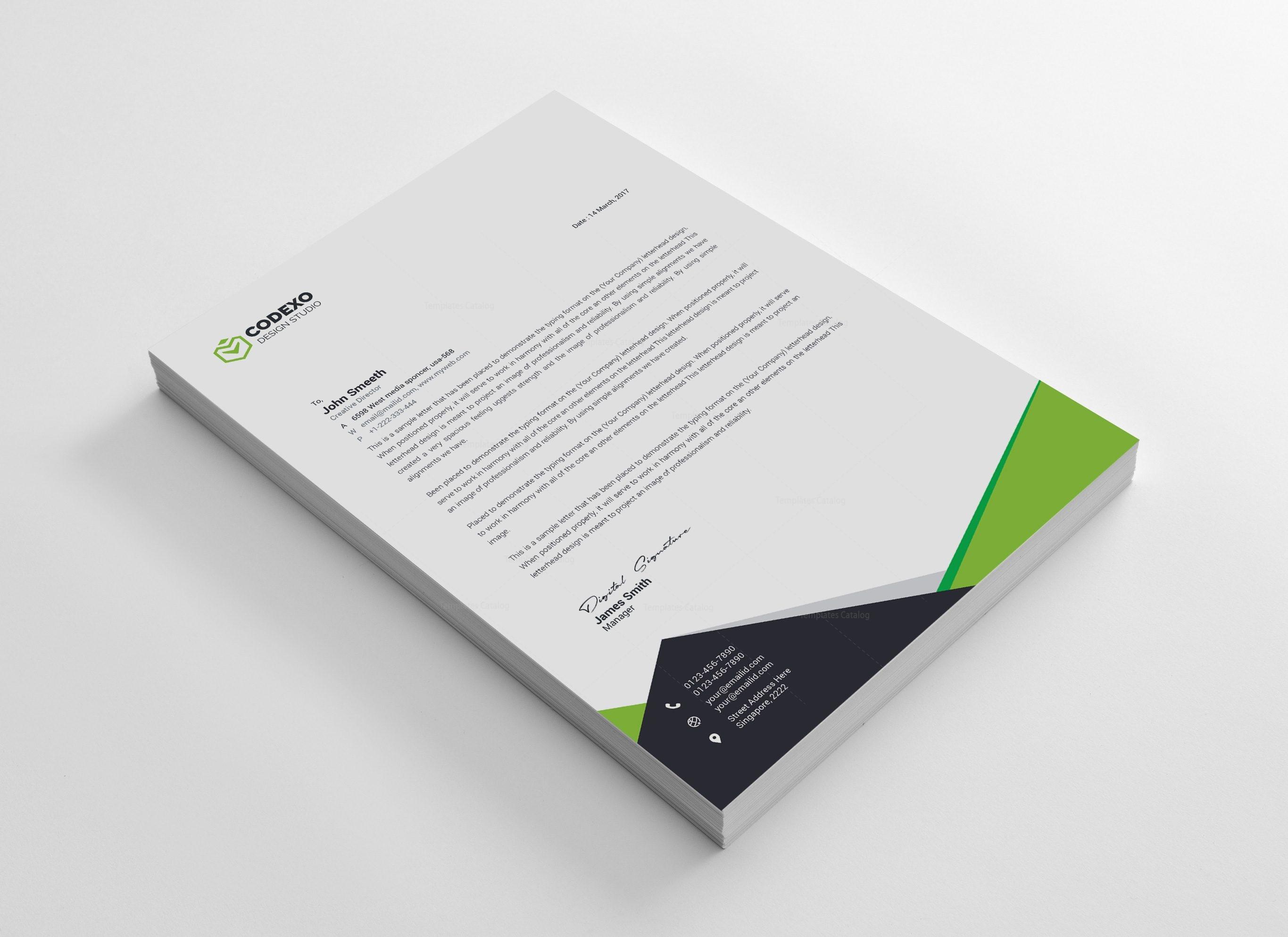 Nemesis Professional Corporate Letterhead Template
