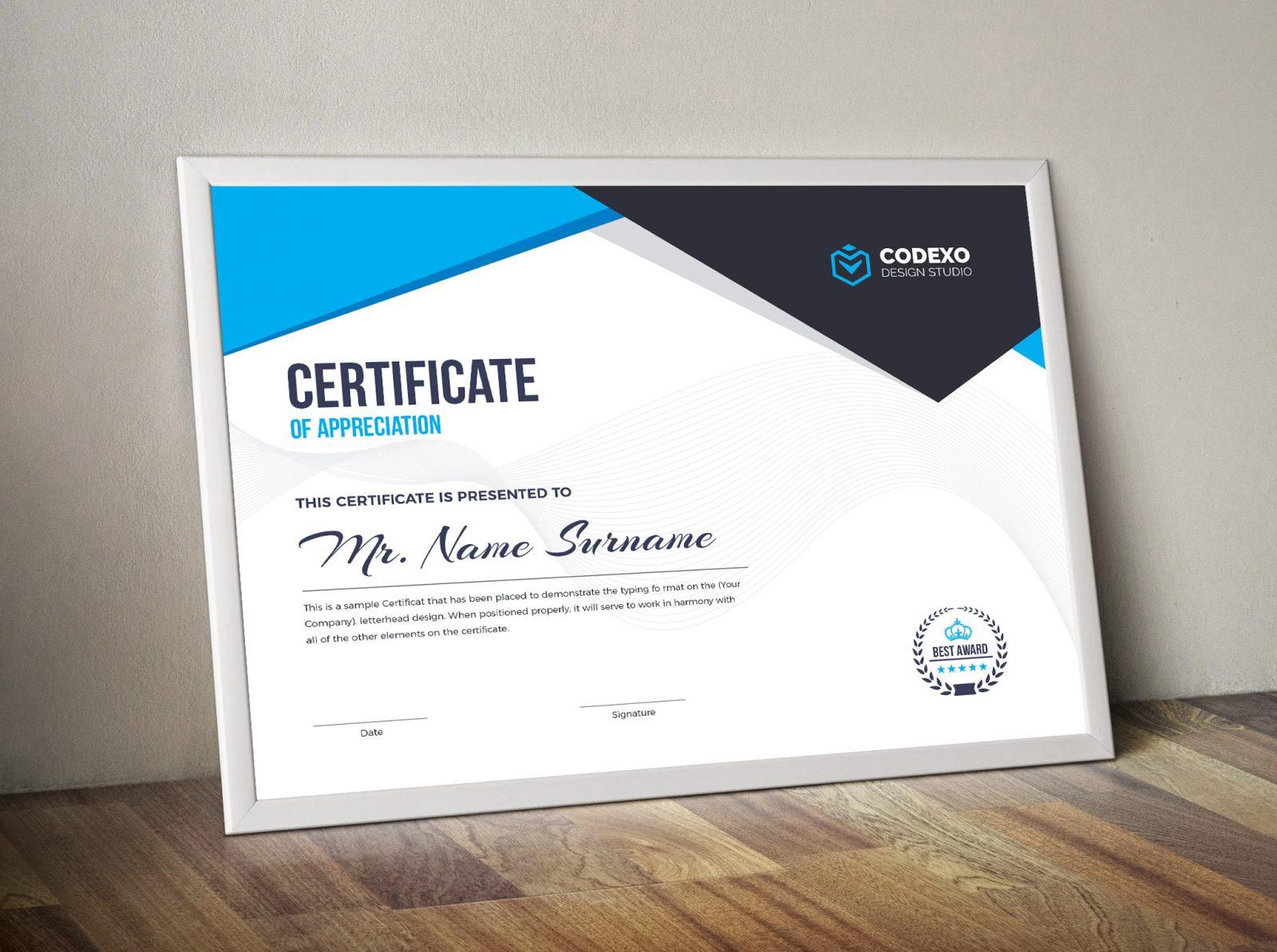 certificate landscape template professional nemesis