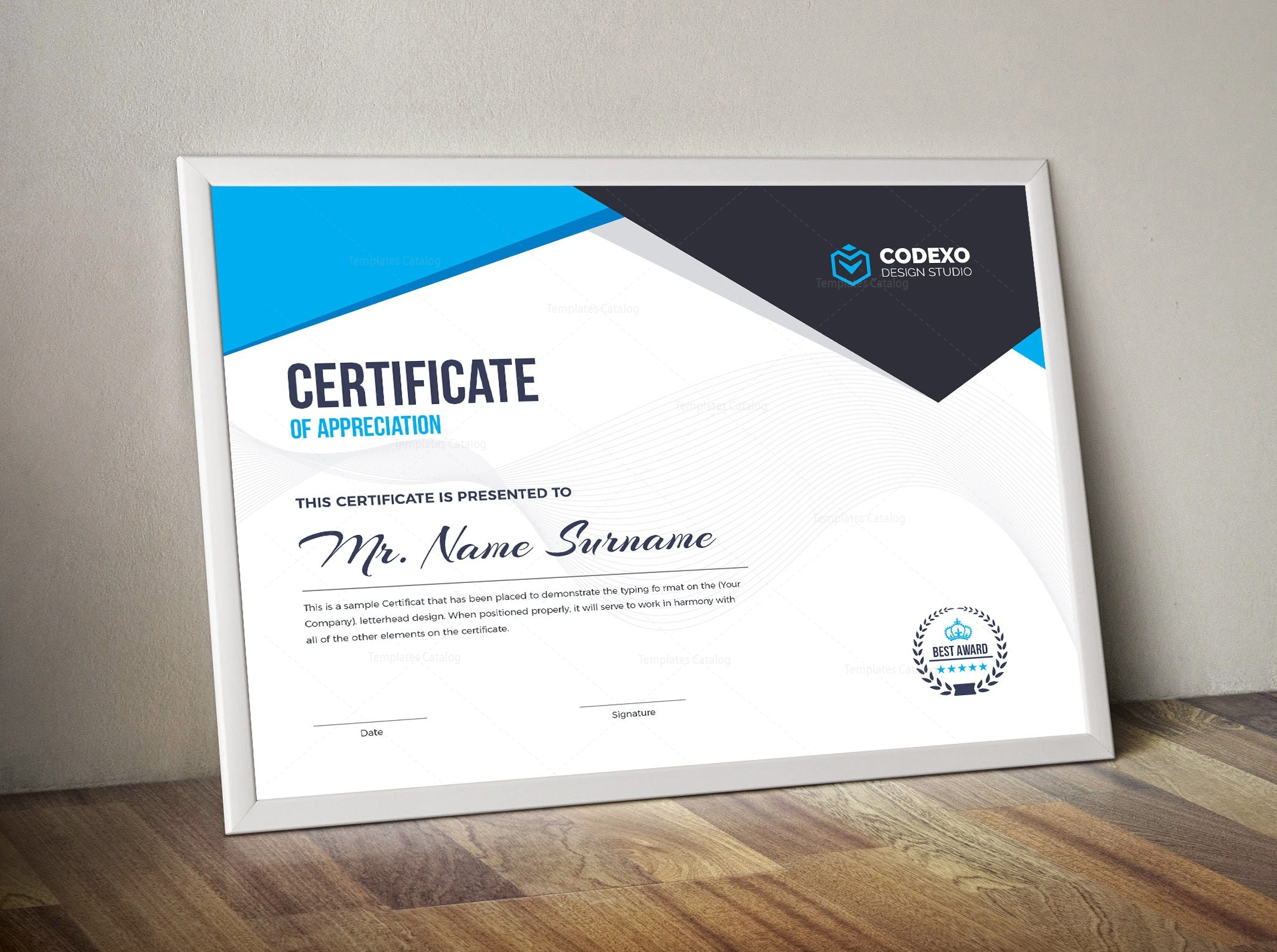 contemporary professional certificate template