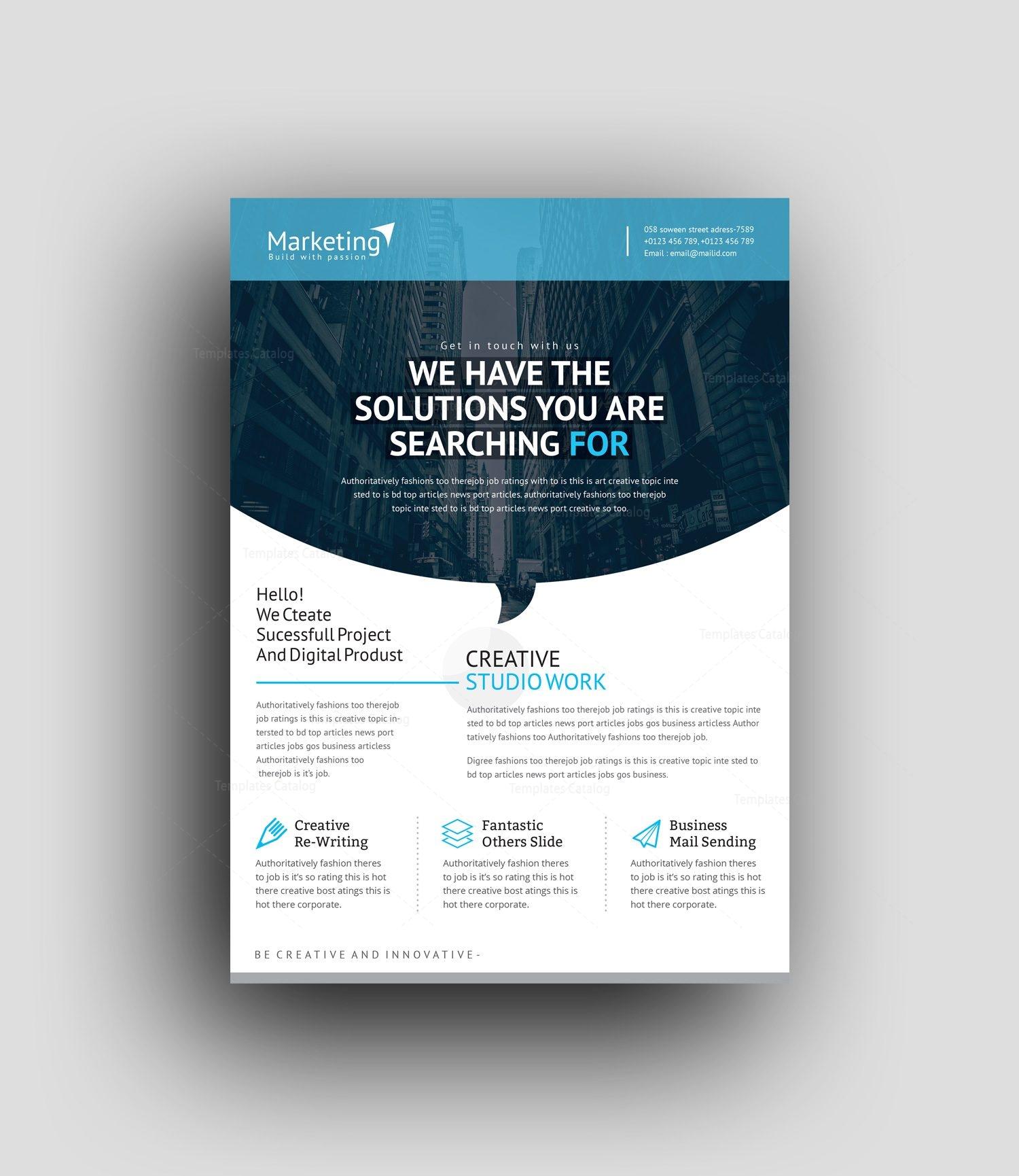 Professional Flyer Design Templates: Nereus Professional Corporate Flyer Template 0010004