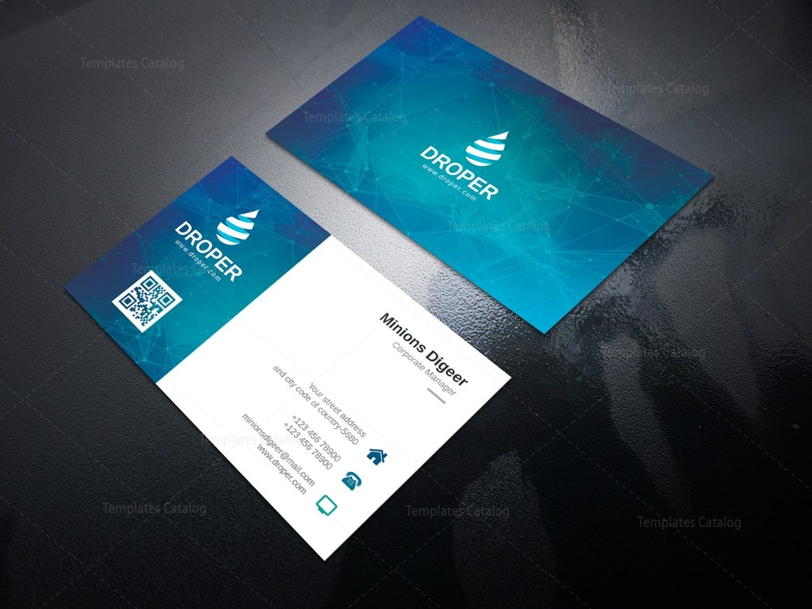 neutron professional corporate business card template 2
