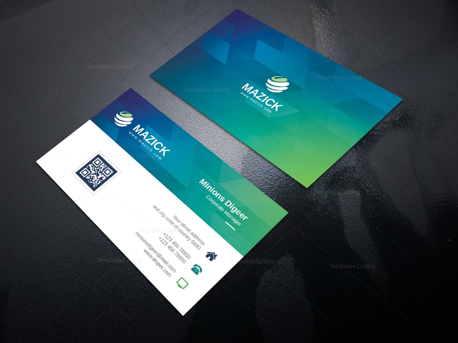 Ocean Professional Corporate Business Card Template 000942 ...