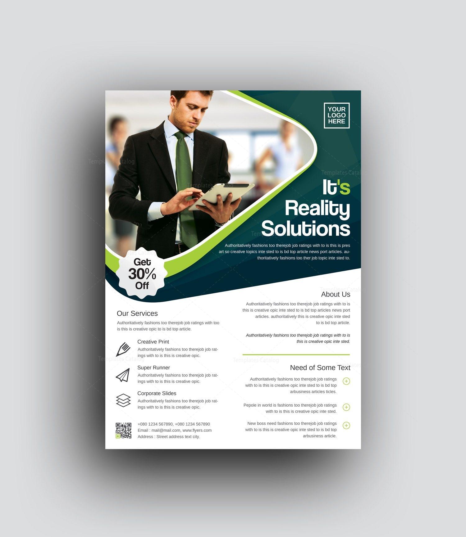 oceanus professional corporate flyer template 0010006 template catalog