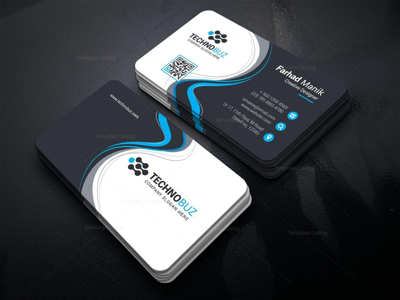 Panda corporate business card template 000834 template catalog panda corporate business card template 1 wajeb Gallery