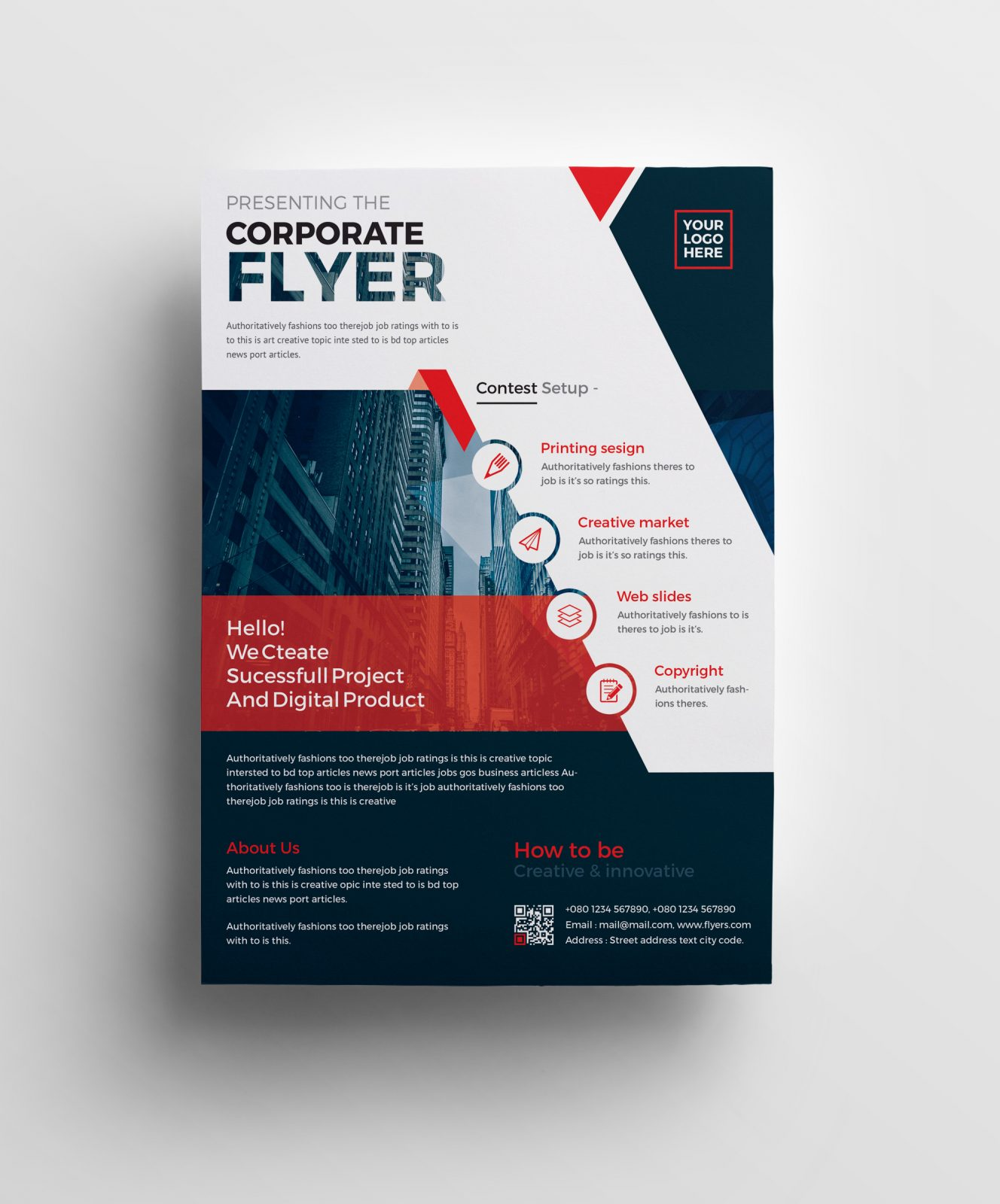 Free Business Flyers Designs: Plutus Professional Corporate Flyer Template 001008
