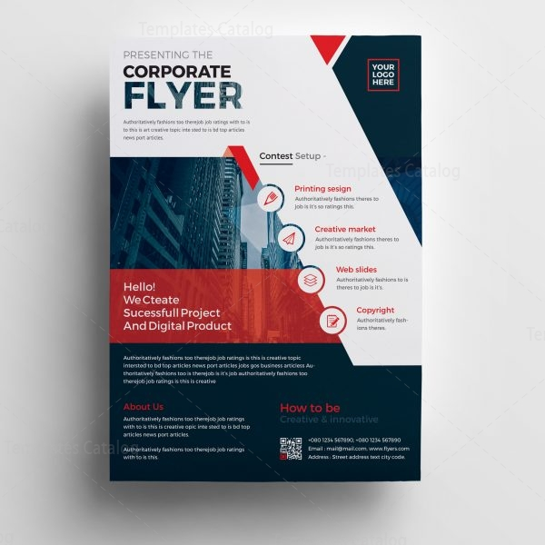 Plutus Professional Corporate Flyer Template   Template Catalog