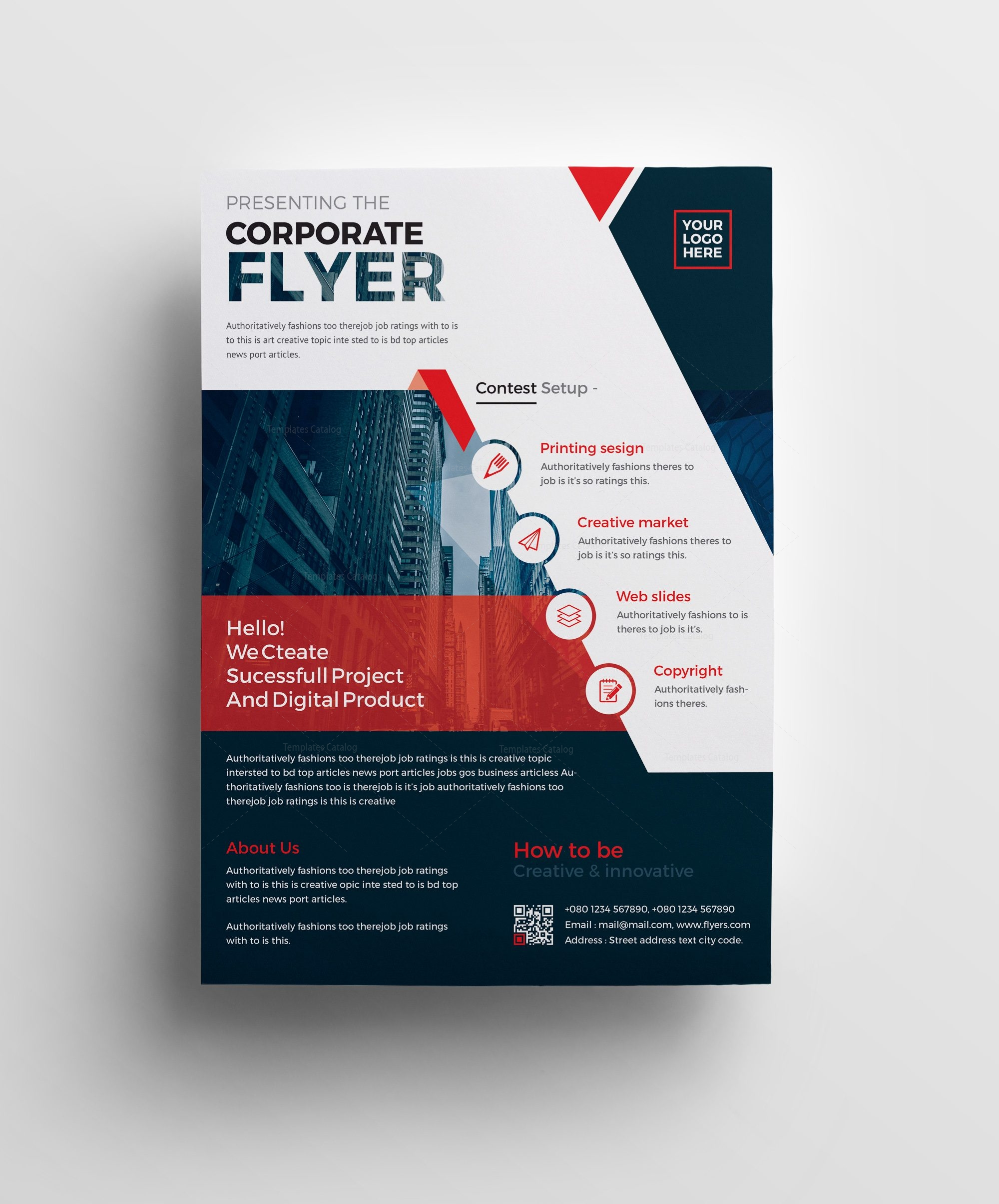 plutus professional corporate flyer template 001008 template catalog