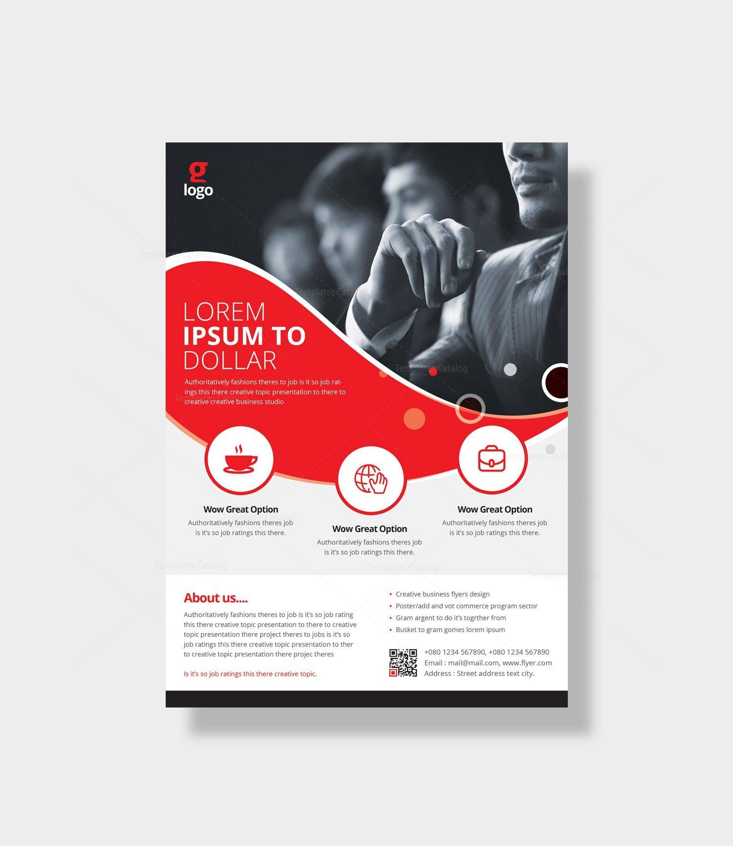 poseidon elegant corporate flyer template 000966 template catalog