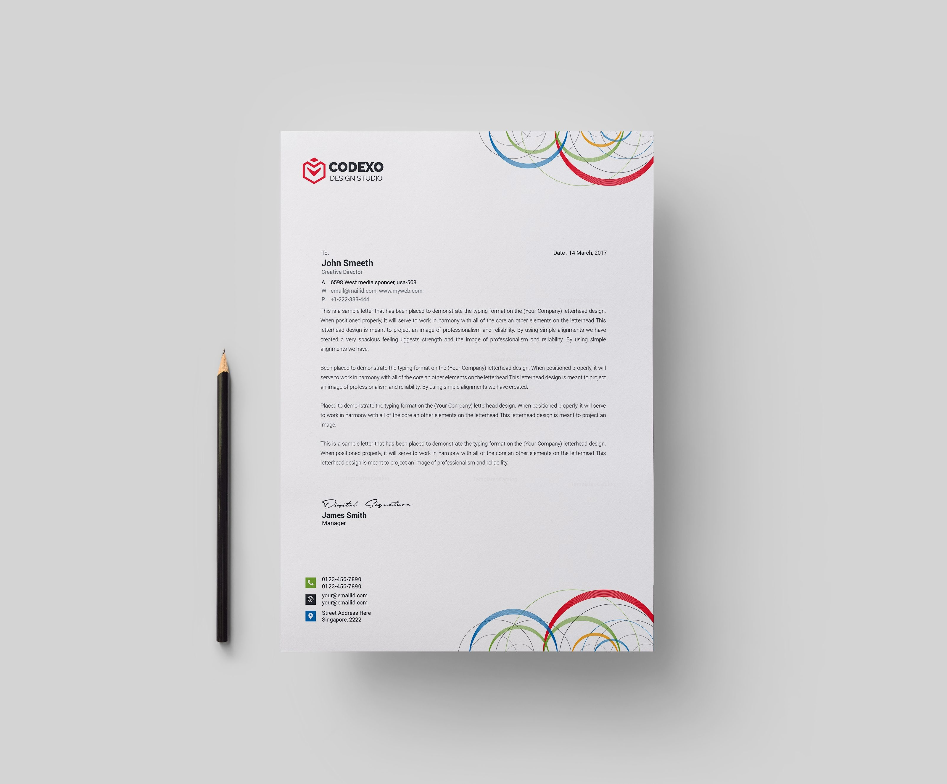 Formal Letter Content Example%0A Business Letterhead Examples Picture Ideas References Poseidon Modern  Corporate Letterhead Template   Business Letterhead Exampleshtml Sample  Letterhead