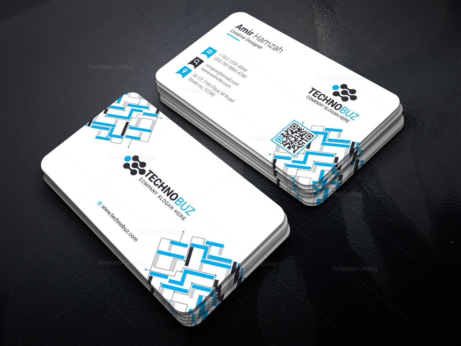 Premium stylish visiting card template 000814 template catalog premium stylish visiting card template 1 accmission Image collections