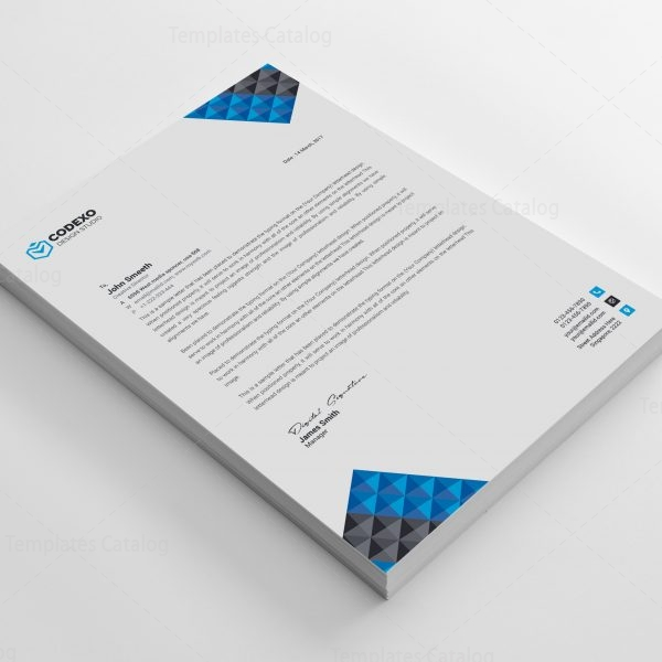 Pyramid Professional Corporate Letterhead Template   Template