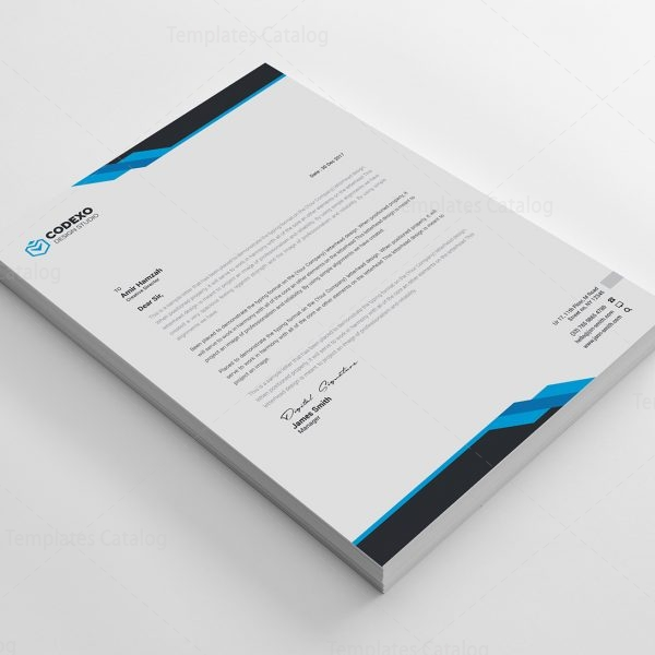 Corporate Letterhead Template At Rs 2 Piece: Samurai Professional Corporate Letterhead Template 000906