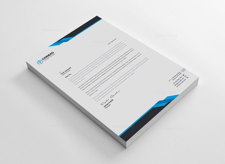 Samurai Professional Corporate Letterhead Template 2