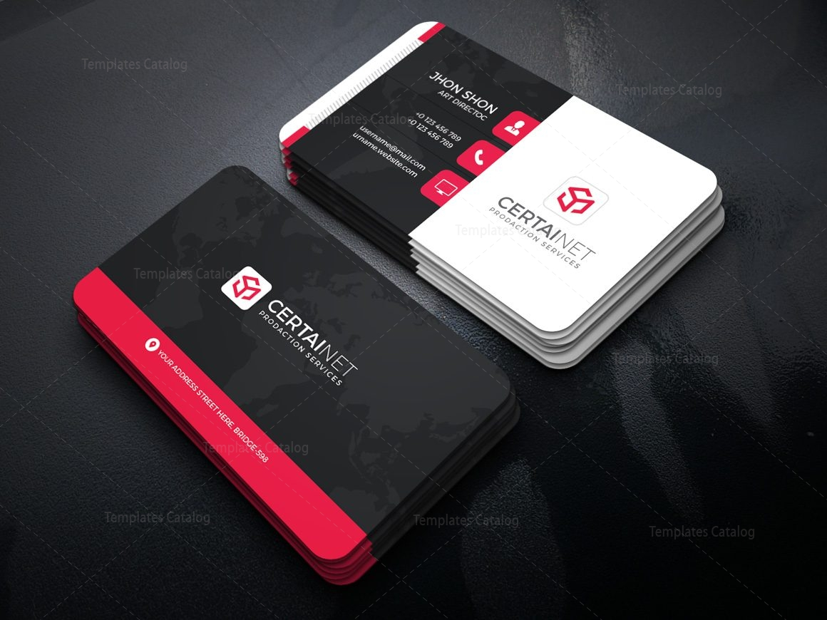 Security Company Corporate Business Card Template Template - Mobile business card template