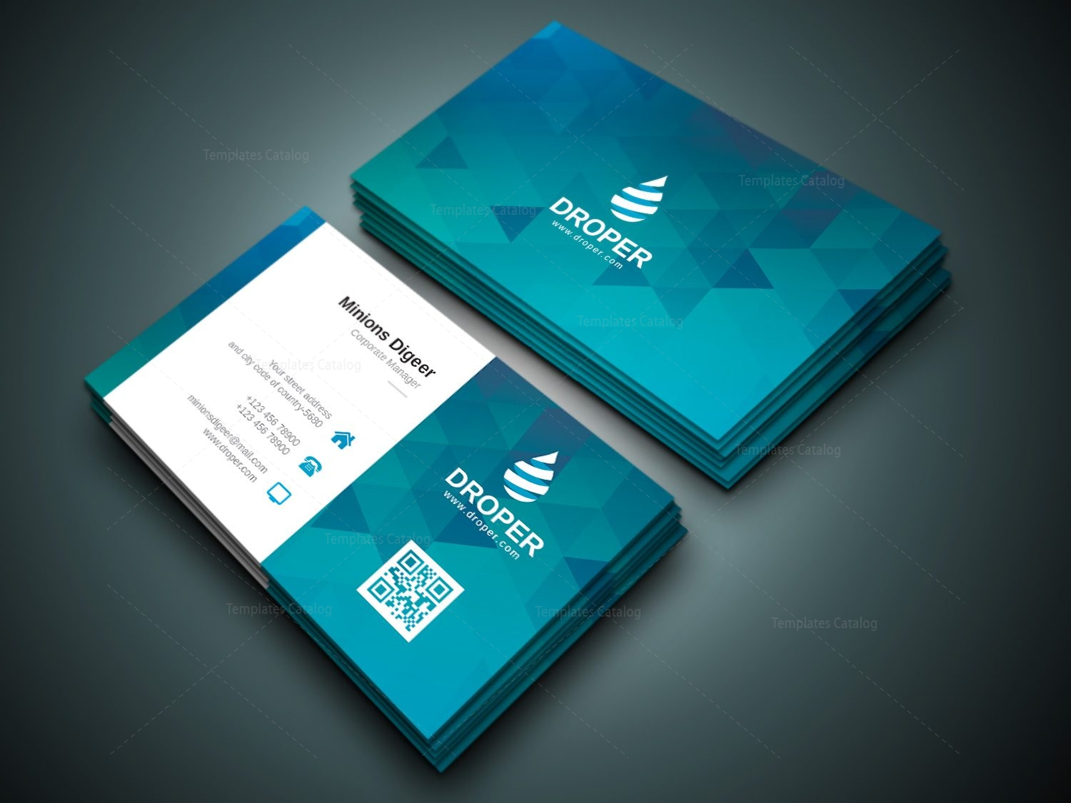 Shark professional corporate business card template 000941 shark professional corporate business card template cheaphphosting