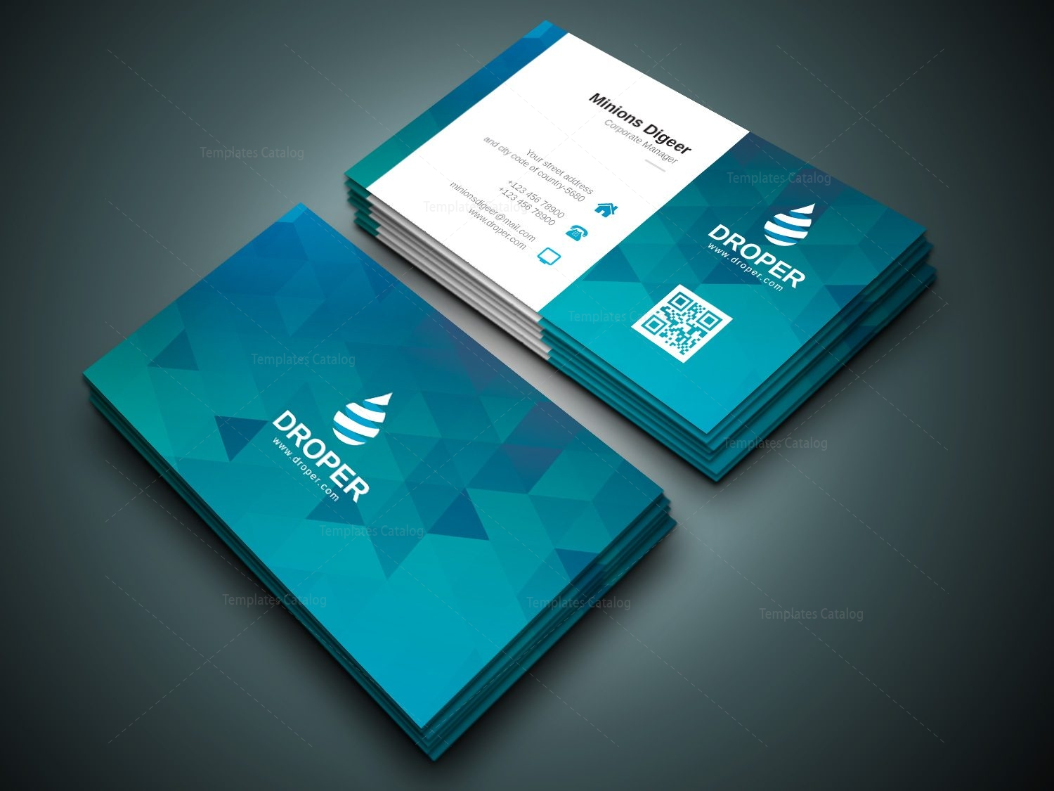 shark professional corporate business card template 000941