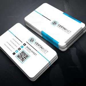 Silver Stylish Corporate Business Card Template