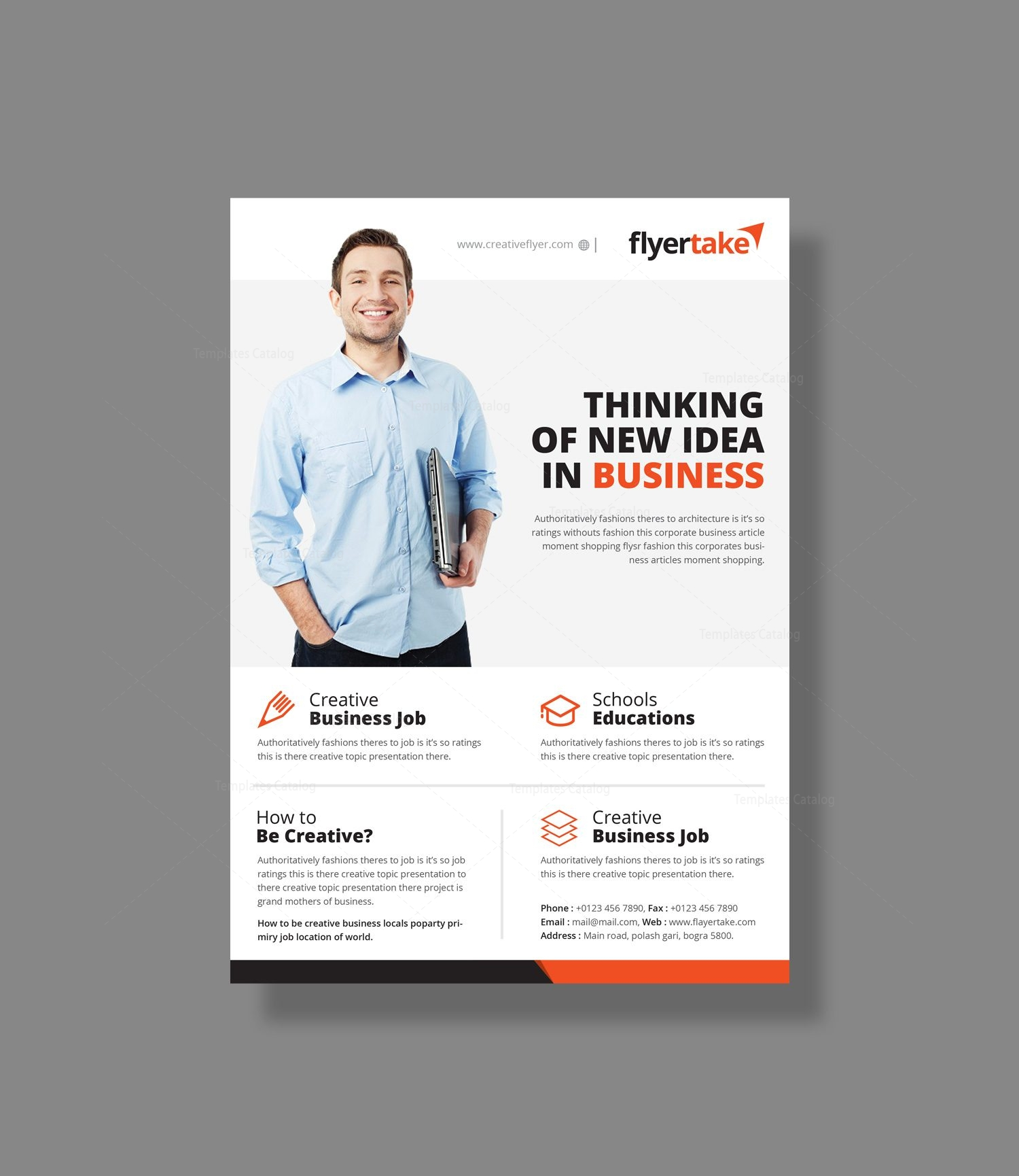 thor elegant corporate flyer template 000962