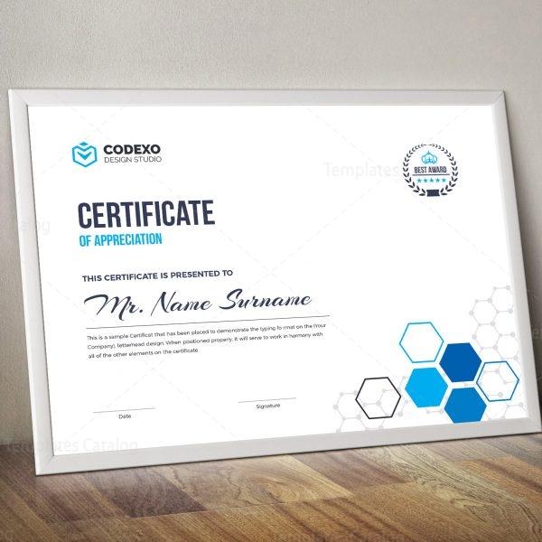 top rated elegant corporate certificate template 000854 template