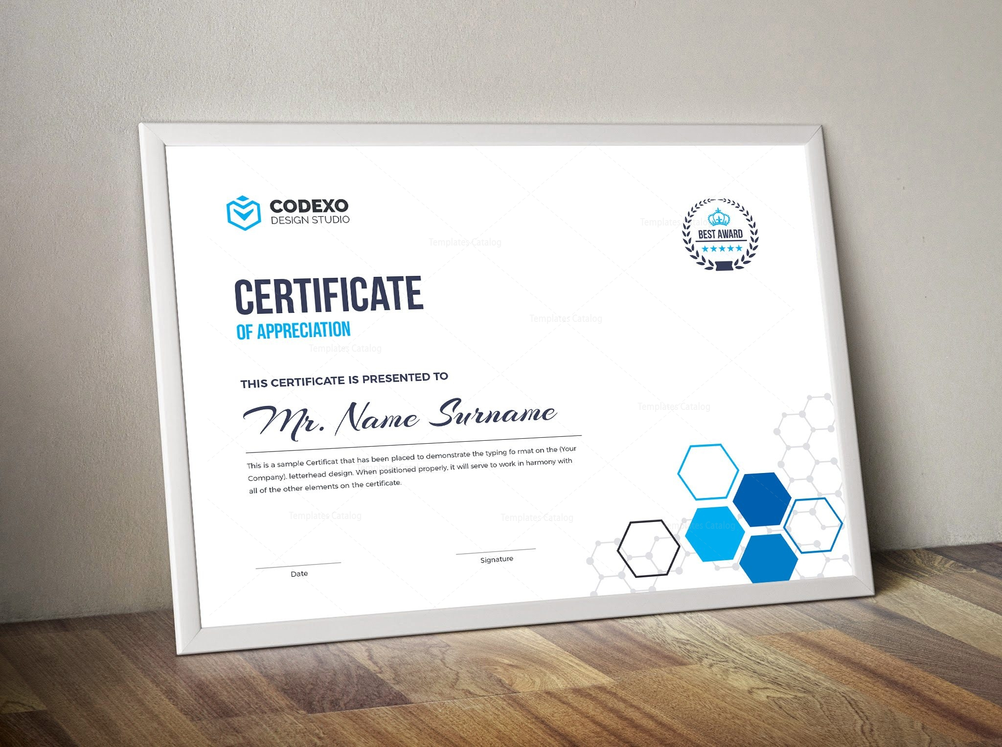 top rated elegant corporate certificate template 000854
