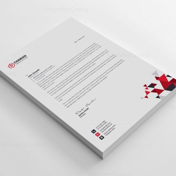 Triangle Professional Corporate Letterhead Template 4