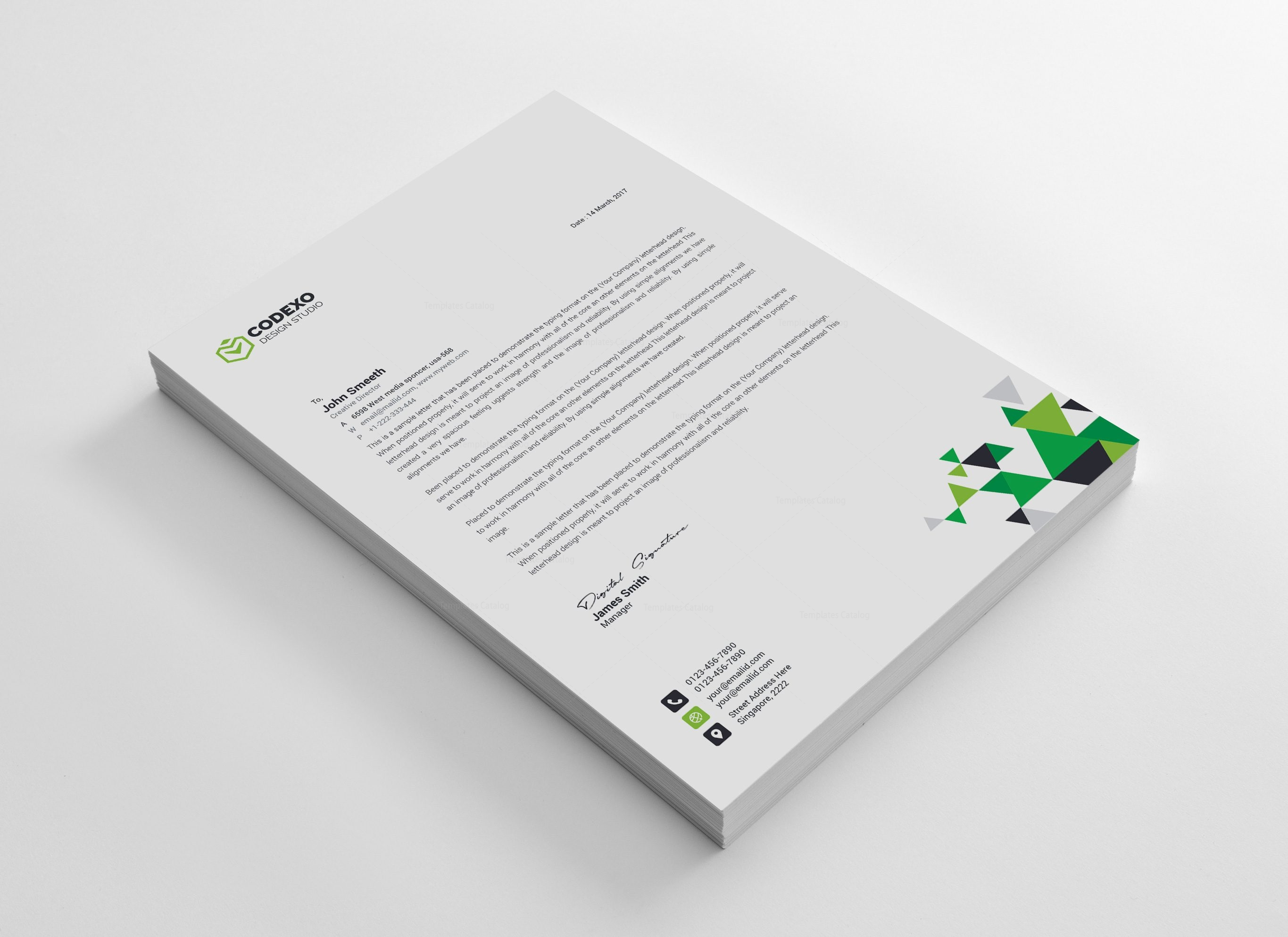 Triangle Professional Corporate Letterhead Template