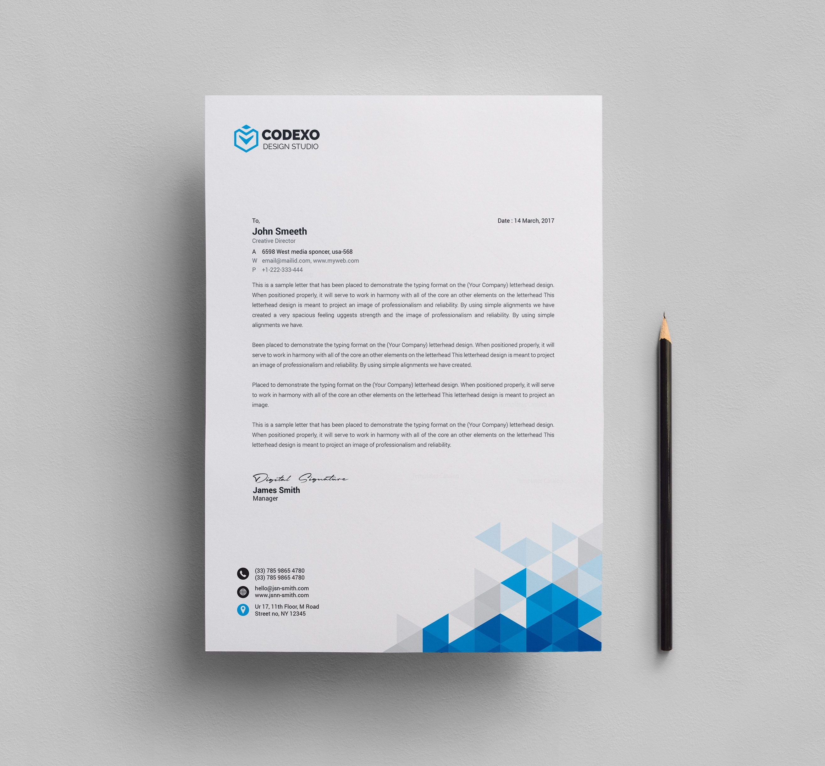 Valkyrie Professional Corporate Letterhead Template 1