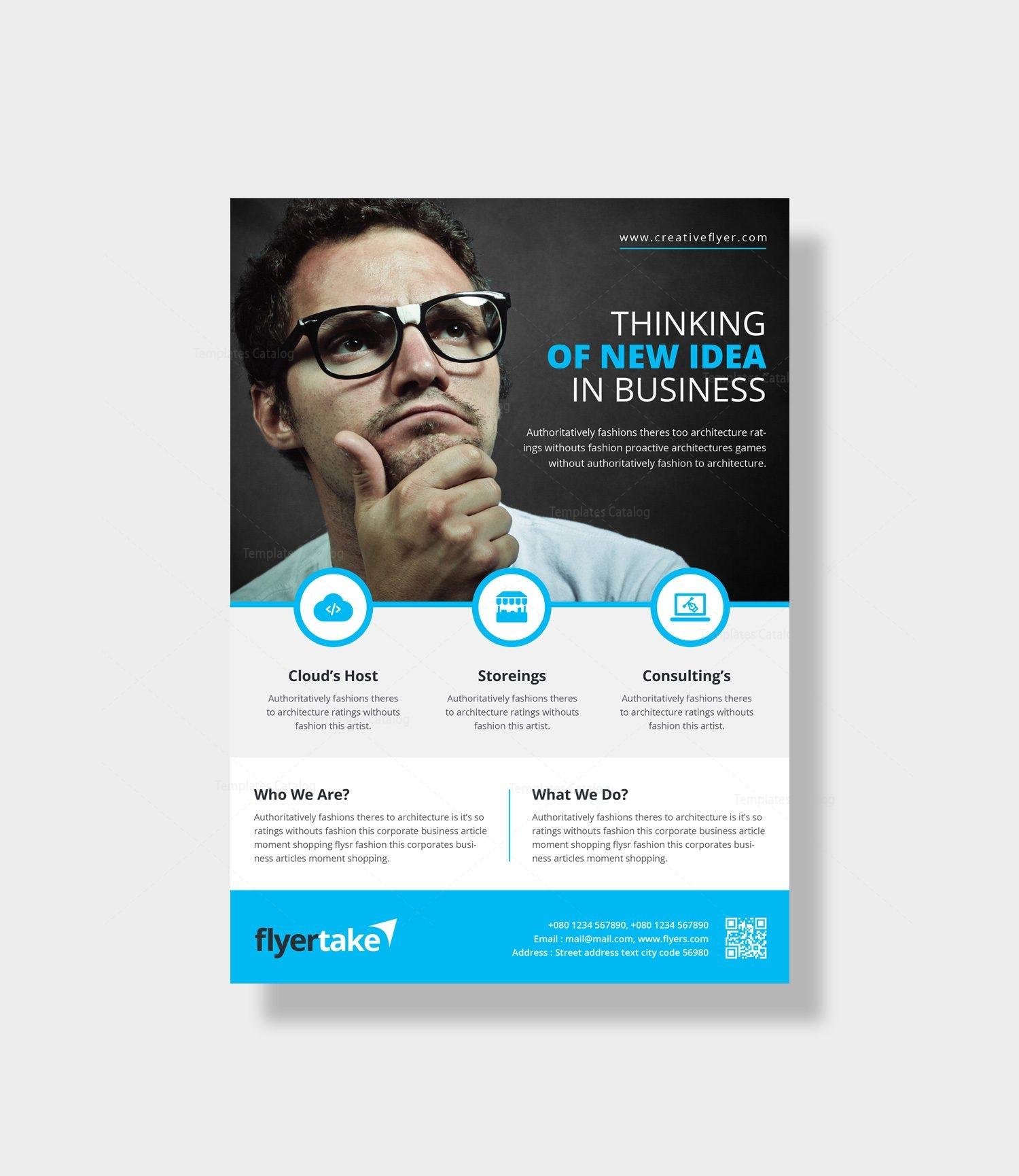 zeus elegant corporate flyer template 000961 template catalog