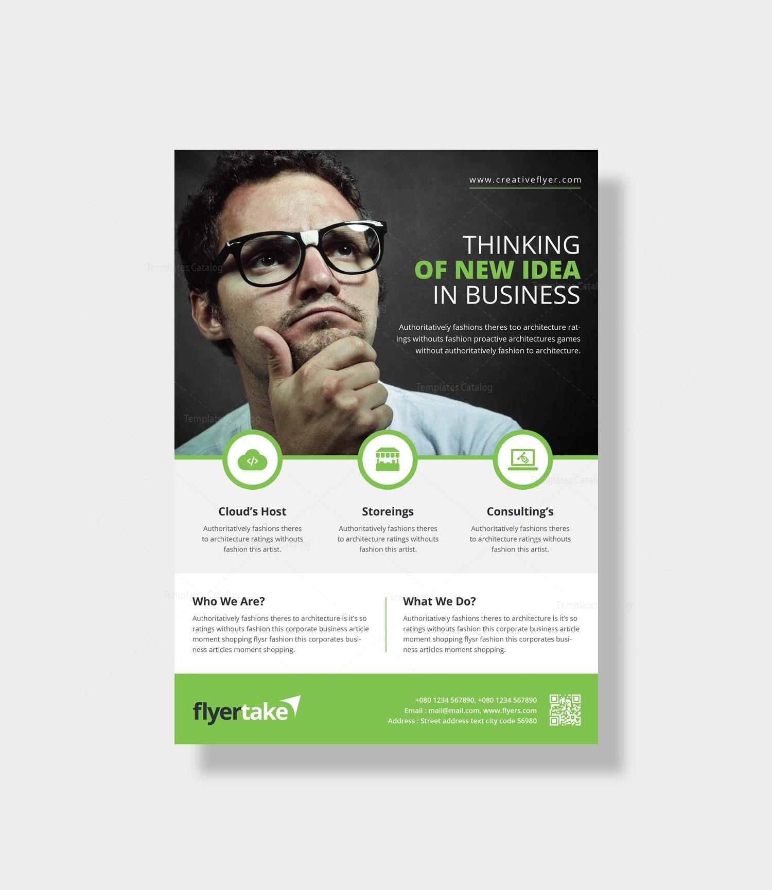 Zeus Elegant Corporate Flyer Template Template Catalog - Company flyer template