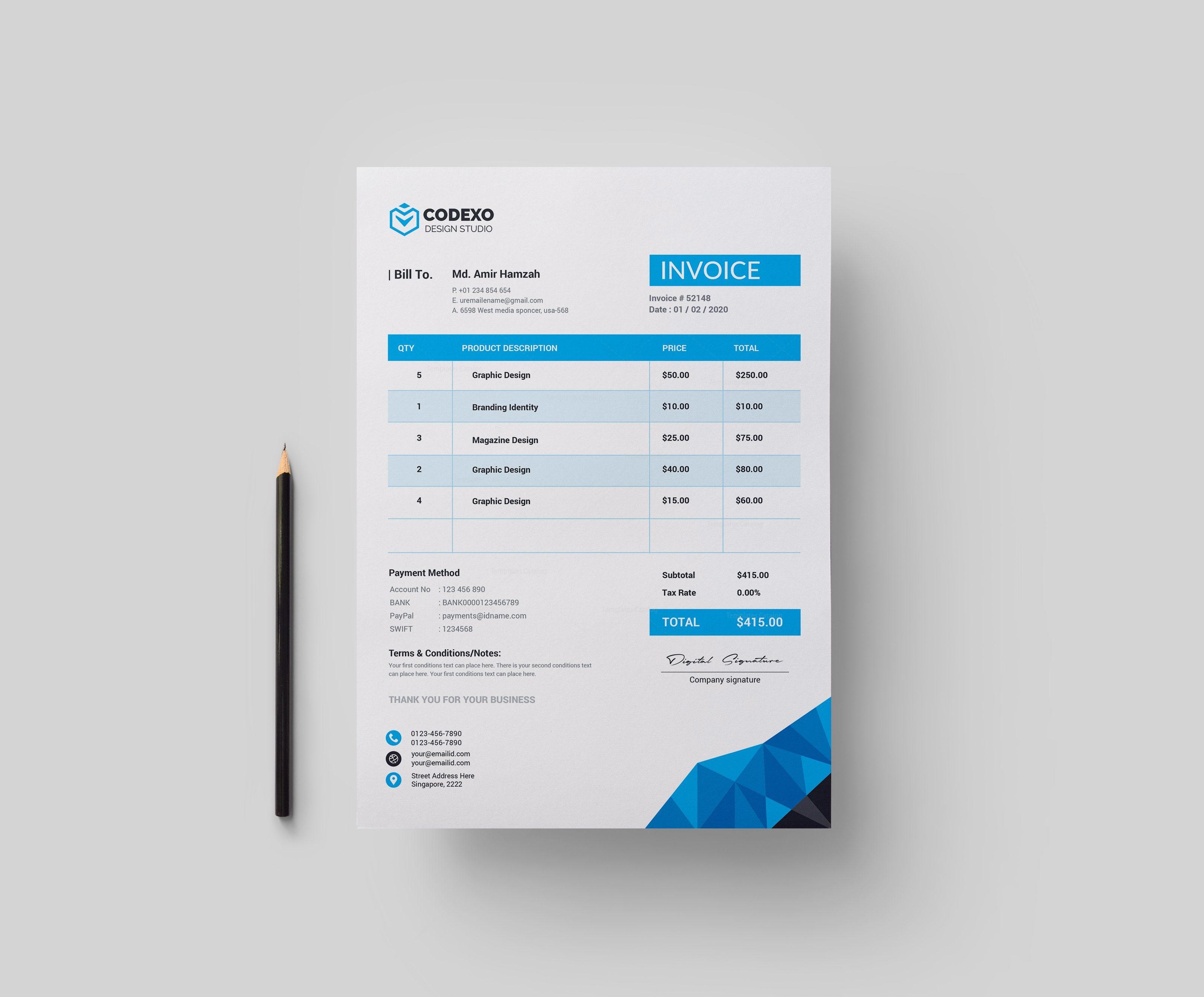 zeus premium corporate invoice template 000823 template catalog