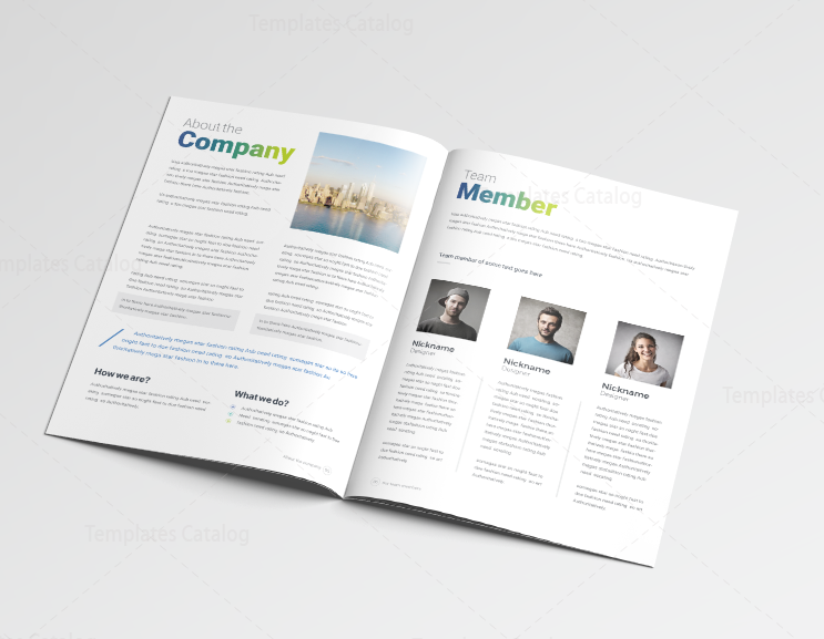 14 Pages Professional Company Profile Template 001116 Template Catalog