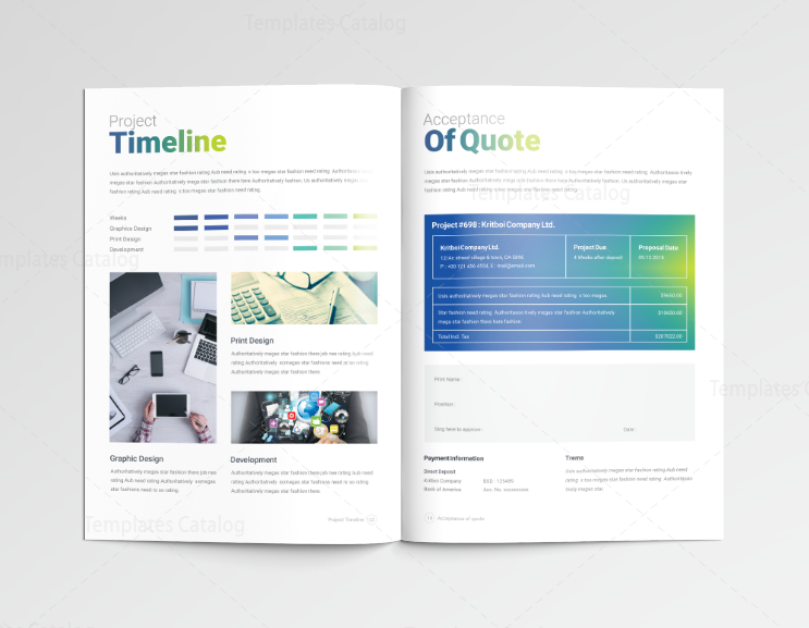14 Pages Professional Company Profile Template 001116 - Template Catalog
