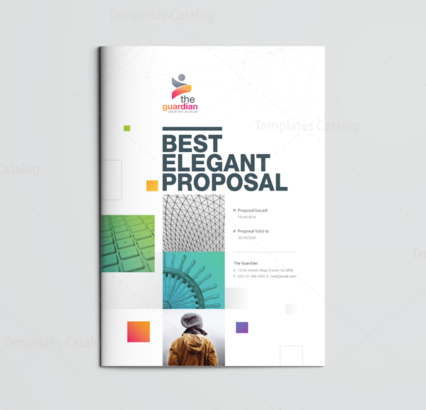 16 Pages Best Elegant Proposal Template 001118 Template Catalog